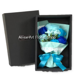 SOAP FLOWERS BLUE 01