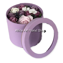 SOAP FLOWERS PASTEL PURPLE
