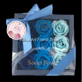 SOAP FLOWER BLUE