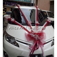 HAPPY WEDDING CAR DECO