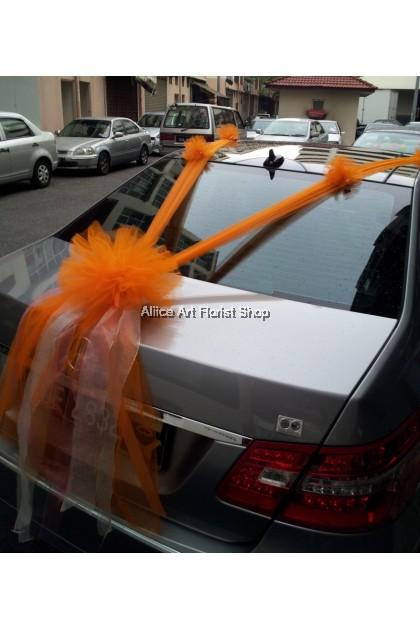 HAPPY GROOM CAR DECO