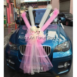 PINKISH BEARY CAR DECO
