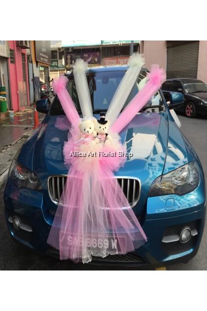 PINKISH BEARY CAR DECO