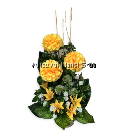 GOLDEN FORTUNE ARTIFICAL FLOWERS