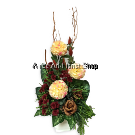 GOLDEN AUSPICIOUS  ARTIFICIAL FLOWERS