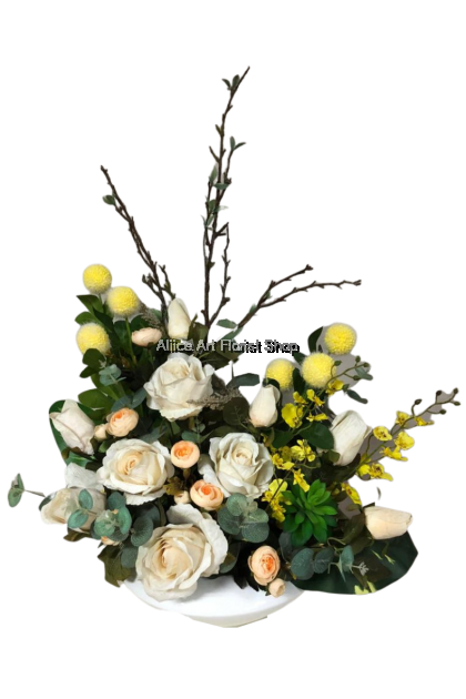 WHITE PEONY ARTIFICIAL FLOWERS